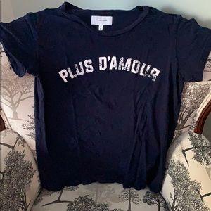 Current/Elliot Plus d'Amour Tshirt Navy Blue 2 M